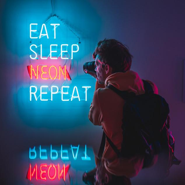 Eat Sleep Neon Repeat
