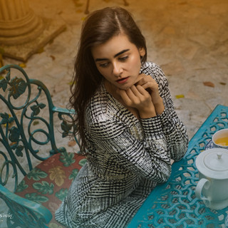 A tea in an autumn teahouse