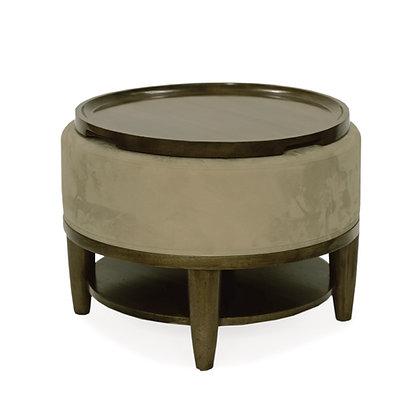 Tray Top Ottoman - Round