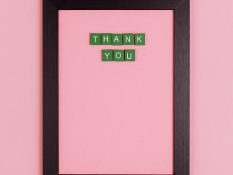 Saying Thank You: Big Benefits and Zero Cost