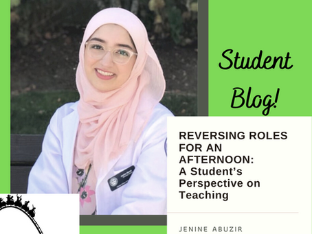 Reversing Roles for an Afternoon: A Student's Perspective on Teaching