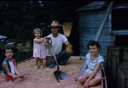 Denise, Maribeth, & Monique with Dad