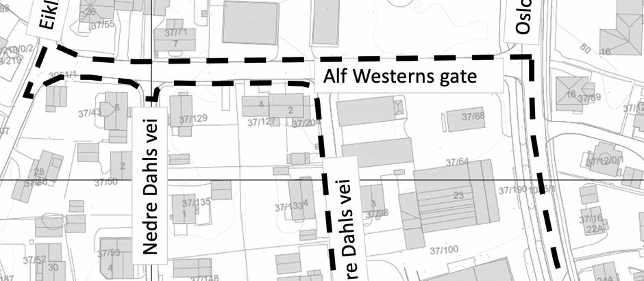 Varsel om oppstart av arbeid med detaljregulering for Osloveien 21 og 23 i Ringerike kommune.