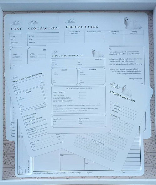 PERSONALISED COMPLETE PUPPY DOCUMENT PACK