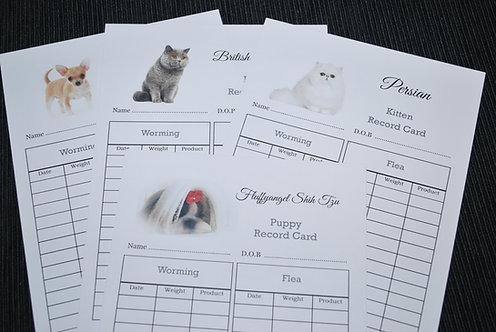 DOG/CAT WORMING & FLEA RECORDS