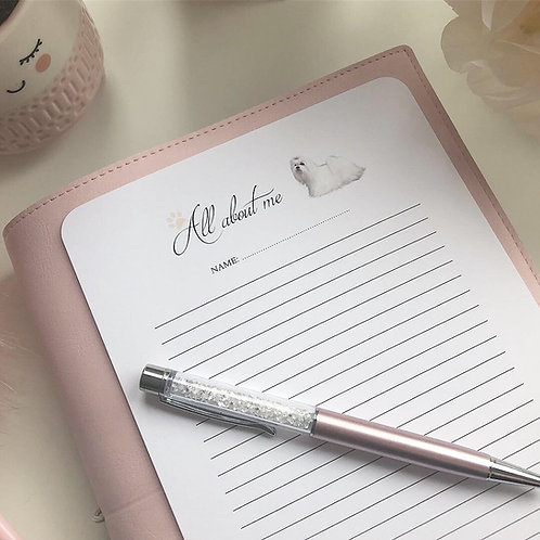 ALL ABOUT ME-NOTE PAPER