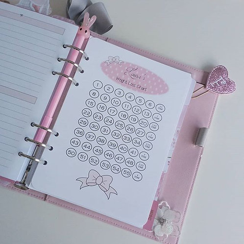 A5 FILOFAX COMPATABLE BOW WEIGHT LOSS CHART