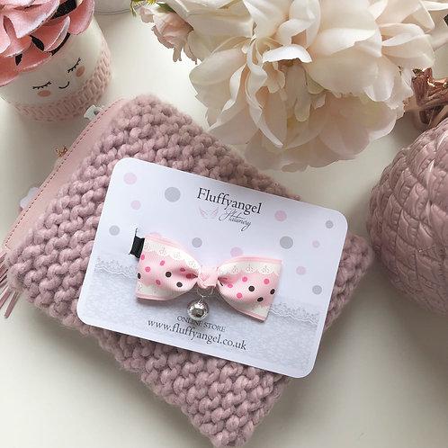 Pretty pink bow tie