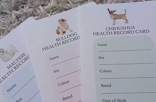 HEALTH RECORD CARDS