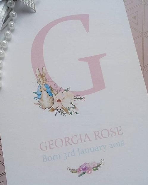Peter Rabbit Personalised Print baby