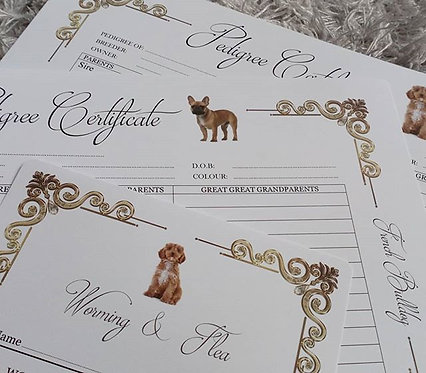 PICTURE 3 OR 4 GENERATION PEDIGREE Certificates