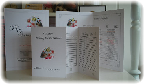FOLDED COMPLETED 3-4 OR 5 GENERATION PEDIGREE CERTIFICATE