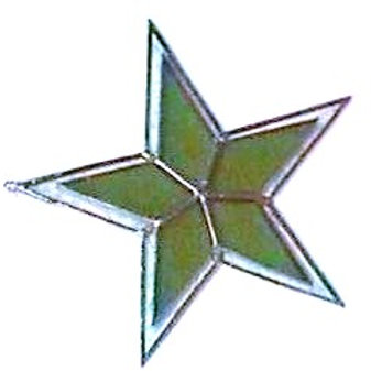 6.5 inch Double Glass Flat Star