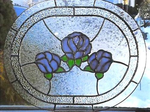 Panel 11 Purple Roses