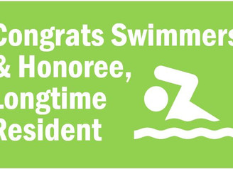 Congratulations to our Indian Lake Swimmers, Honoree & Longtime Resident Susan Elko