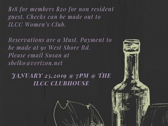 The ILCC Women's Club cordially invites you to a Winter Wine Tasting ...