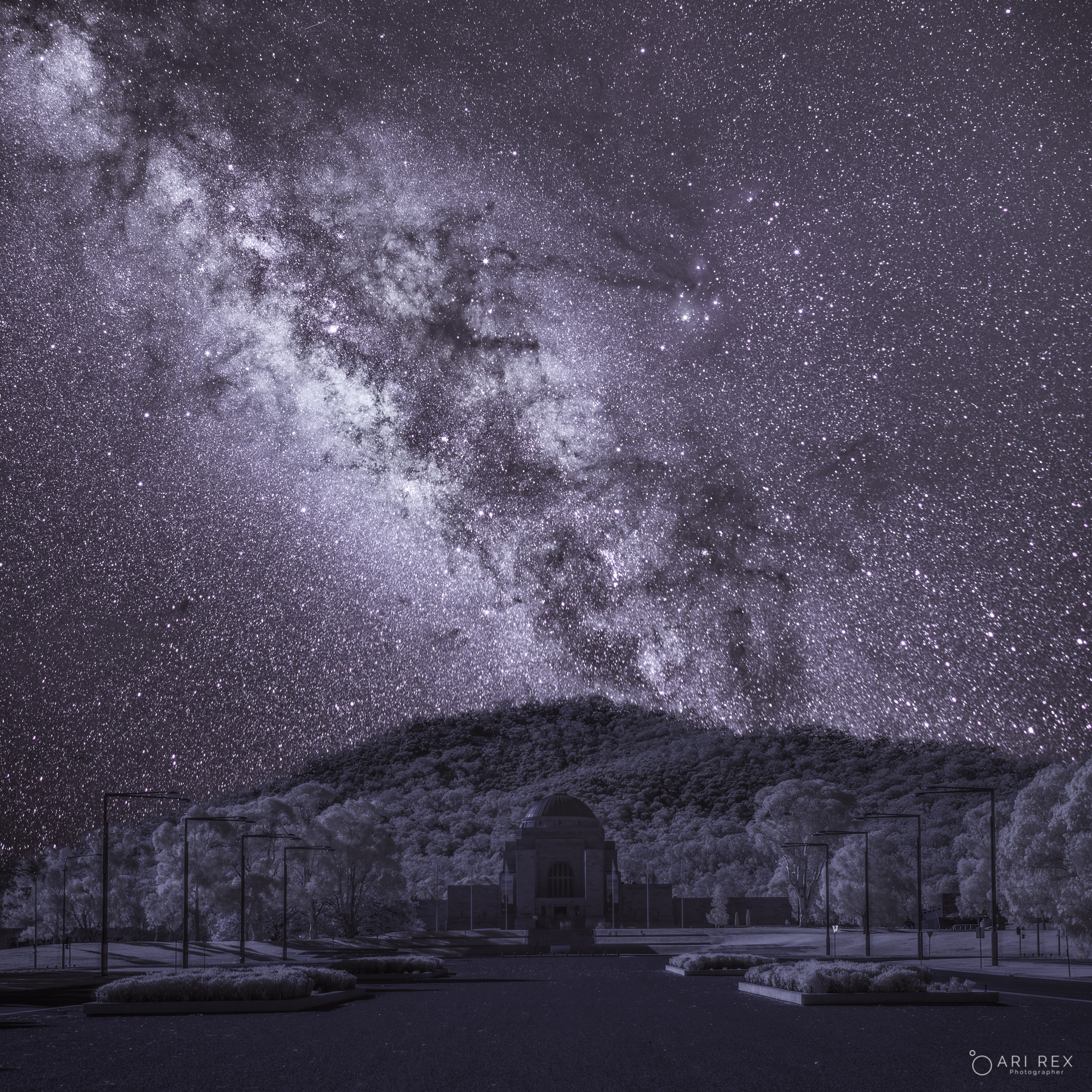 War Memorial & Milky Way in Infrared