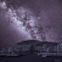 War Memorial & Milky Way in Infrared