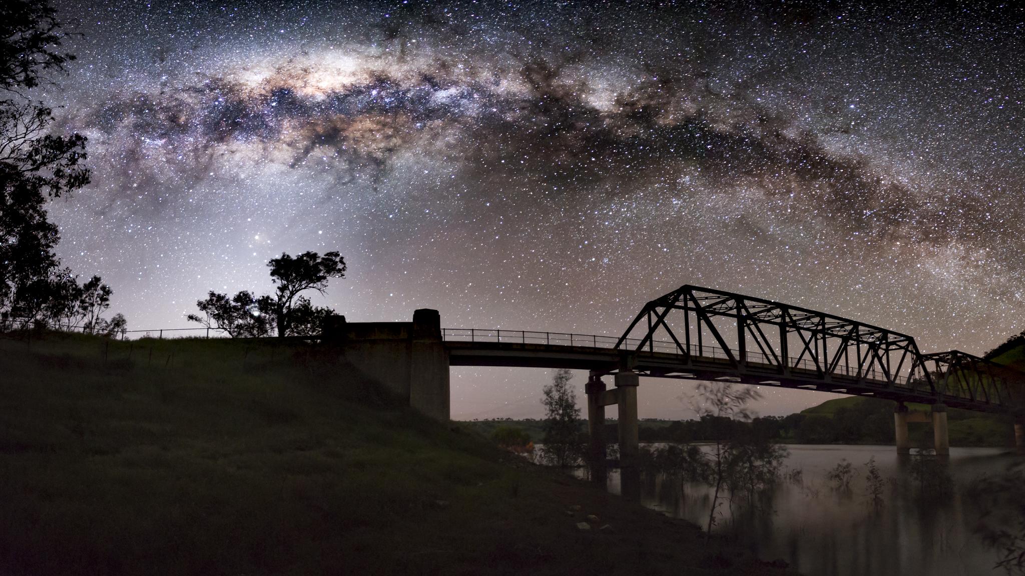 Milky Way at Taemas Bridge
