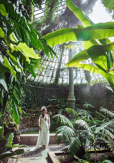 Una novia en el invernadero, fotografiada por Mirlo Azul.