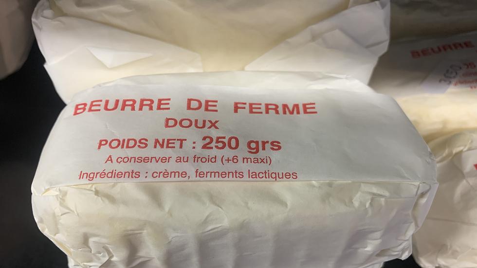 Beurre doux fermier 250g