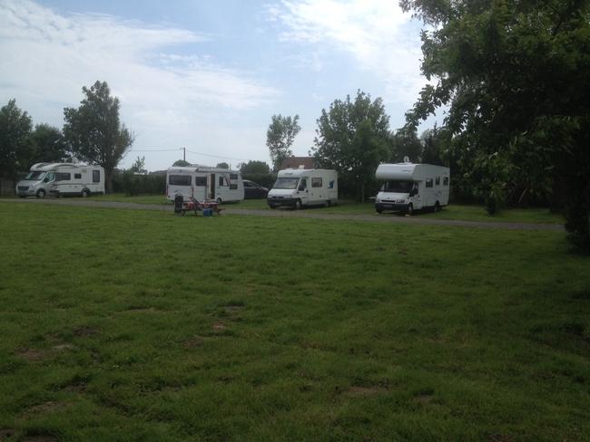 Emplacement camping car stabilisé