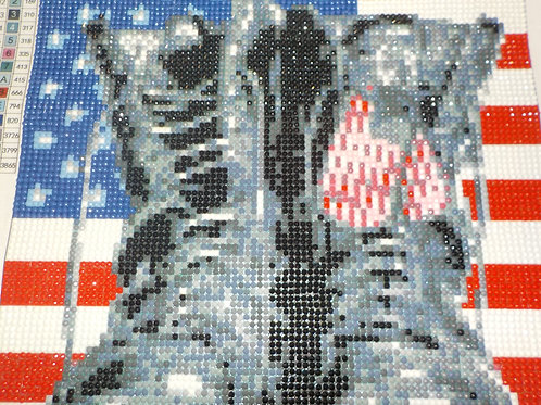 Flag, Boots and Tags Mosaic   Diamond art