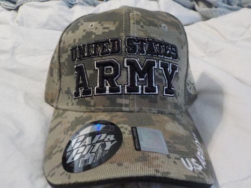 U.S. Army cap,  Desert camo, Velcro fastener, one size fits all