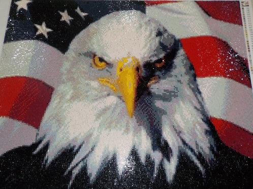 Eagle/Flag Mosaic   19.75 in H X 13.75 W