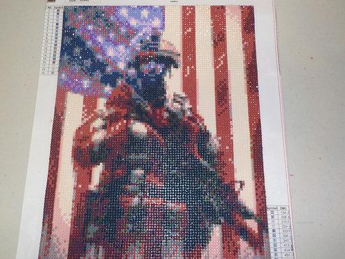Military Mosaic Diamond art