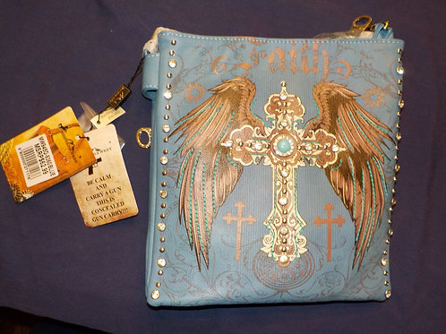 Montana West Cross body, Concealed Carry purse  Blue