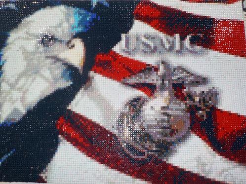 U.S.M.C. Mosaic Diamond art