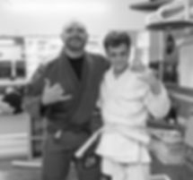 Jiu-Jitsu Coach and Student