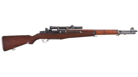 Springfield M1C Garand w/Lyman Alaskan Scope