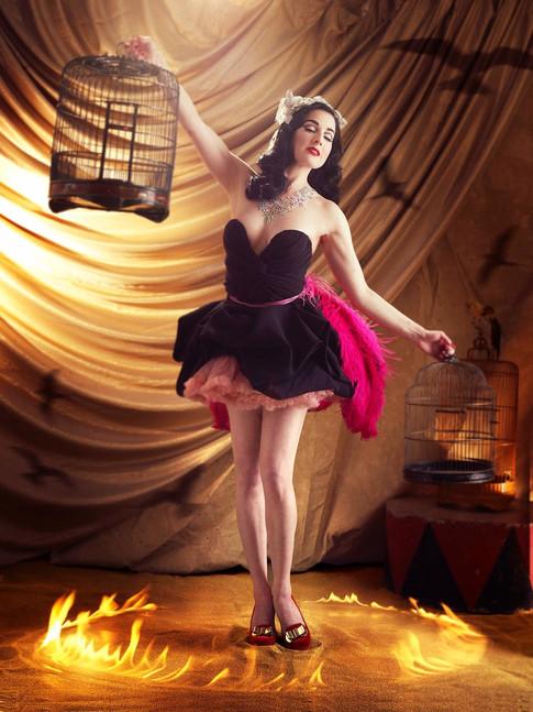 Carmen as the 'Firebird'