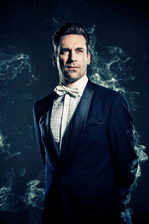 "Harvey's ""I'm the next James Bond"" pose"