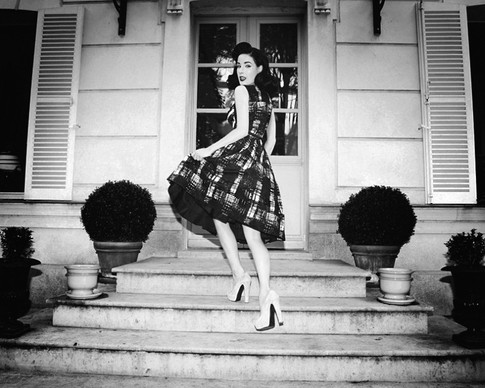 Carmen in a swing dress
