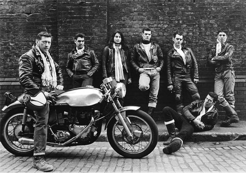 Eugene with his Greaser gang