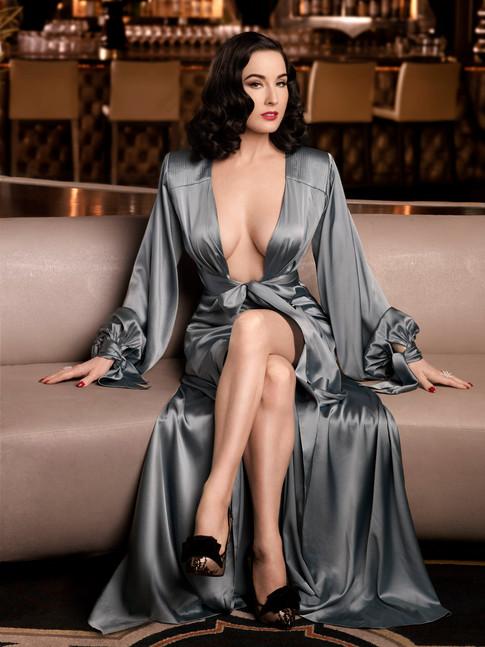 Carmen in a dressing gown