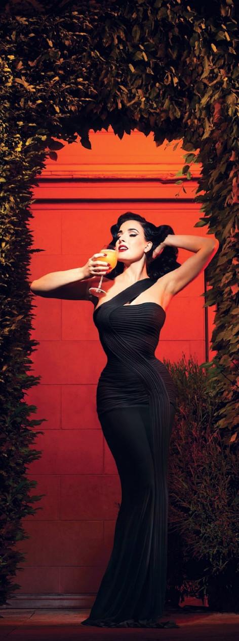 Carmen in her Las Vegas evening gown