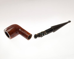 Pipe with concealed radio receiver