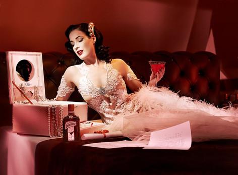 Carmen's signature white dress