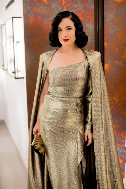 Carmen's eveing wear for the Waldorf Astoria