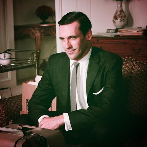 Harvey in his office wear