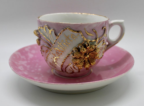 Pink and Gold Delight Teacup Candle