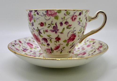 Golden Rimmed Rosina Teacup Candle