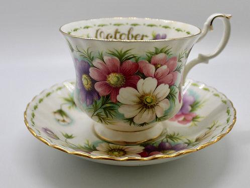 Royal Albert October Teacup Candle