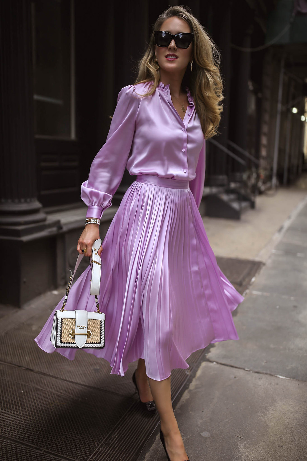 falda plisada vestido plisado blusa pleated dress pleated skirt moda fashion tendencia clasico sogisticado girly fashionista trend outfit look inspiracion revista magazine panama pty