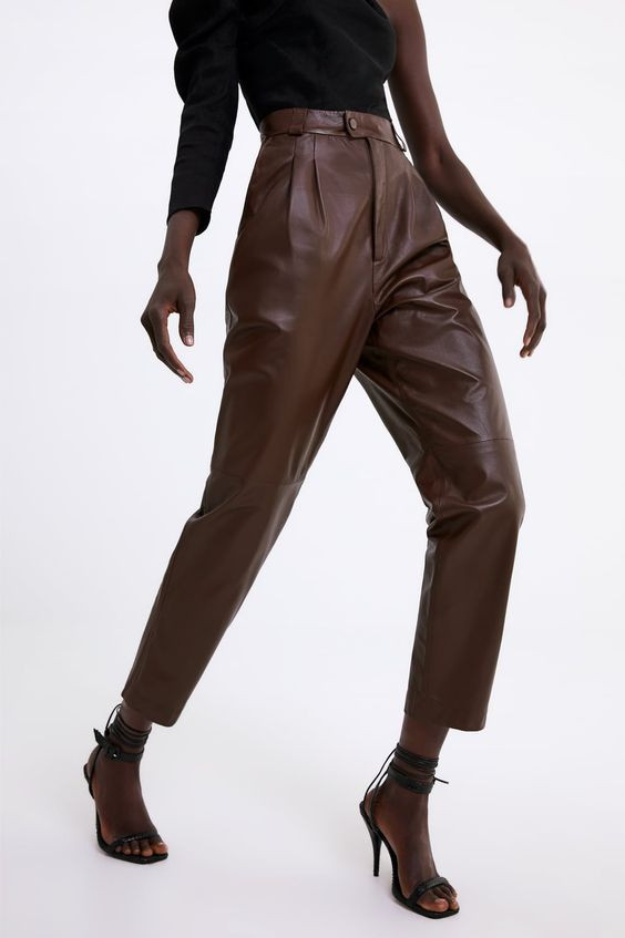 leather pants cuero pantalones pantalon ropa vestimenta outfit moda fashion tendencia trend fashion lover magazine revista zara