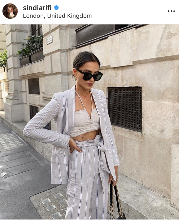 tendencia trend moda fashion summer verano 2019 outfit inspo look del dia fashion lover blogger revista moda magazine must wear rayas blazer
